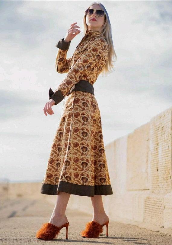Beautiful Rare Vintage 1970s Anna Belinda  Silk In
