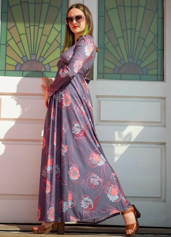 Vintage 1970s Maxi Dress   Empire Line   Celia Bir