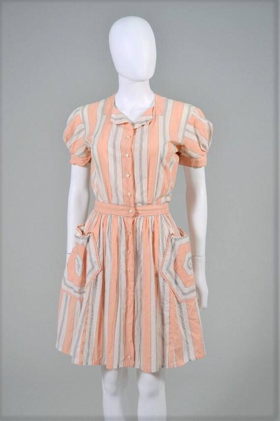 petite Vintage 1940s Carlye junior dress dating fr