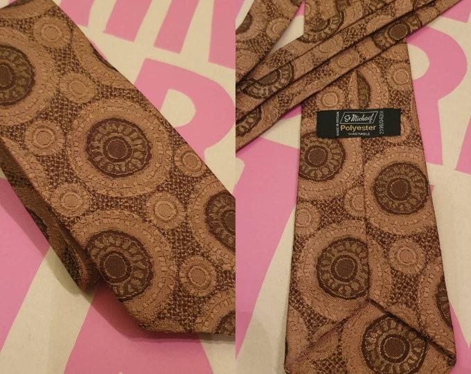 Vintage 70s 1970s St Michael Retro Print Polyester Wide Tie