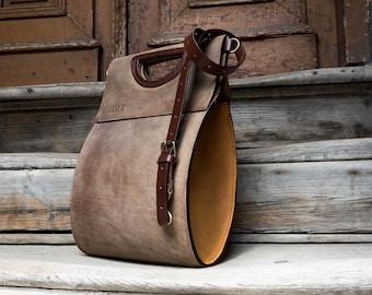 ESPANA Leather clutch bag handmade leather handbag leather purse woven bag boho purse