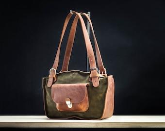 d46f4b60d3d Customizable Leather Tote Promo Sale Mother's Day Handmade handbag shoulder  bag Office Bag Perfect Woman Gift Leather Bag Ladybuq original