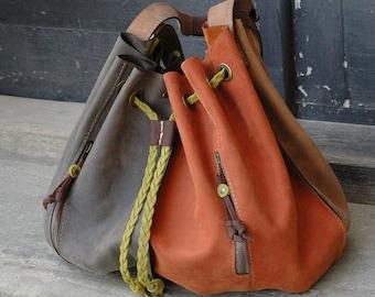 Handmade leather oversize bag Marlena leather woman handbag oversize bucket purse unique leather handbag  tote novelty purse ita bag ladybuq