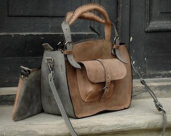 eee59d6acc Sac à bandoulière en cuir avec pochette pour ordinateur portable sac sac à  main bourse ladybuq cuir fourre-tout voyage sac Womens cadeau Bureau sac à  main ...