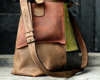 3c00cfb8362 Oversized leather handmade multicolor Bag ladybuq Alicja design original shoulder  bag hobo bag big oversize bag full grain leather bag