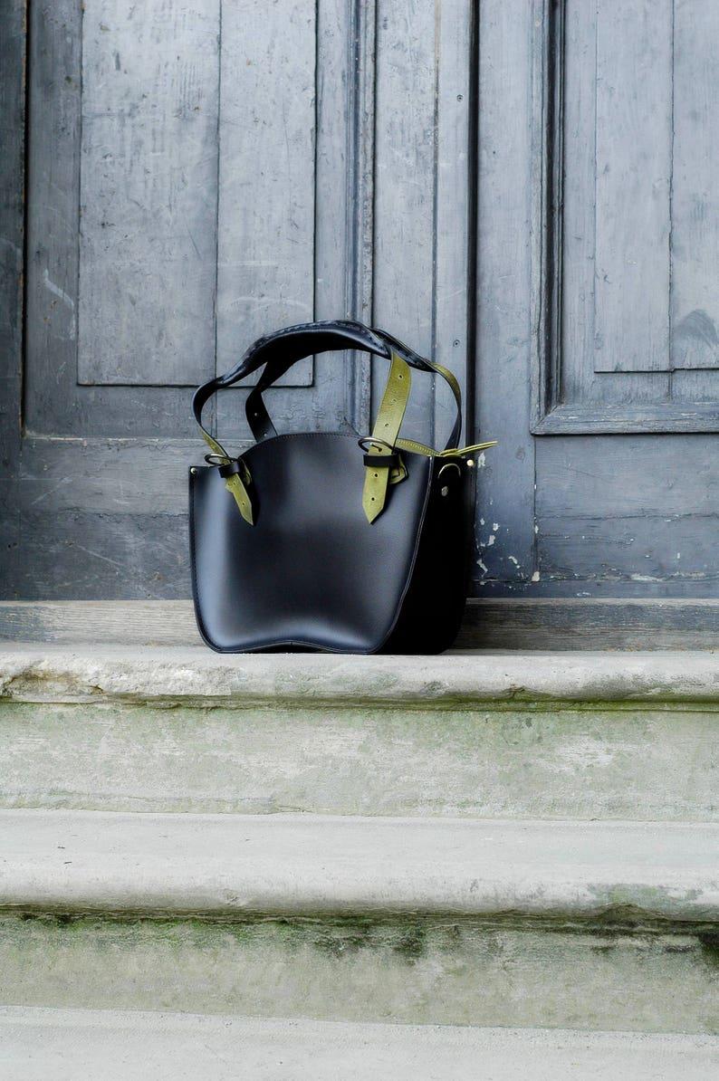 travel bag handmade laptop leather bag Black Office Tote Handmade Leather Handbag with Clutch set Kuferek crossbody women/'s bag