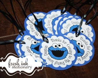 Cookie Monster Personalized Tags