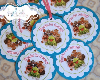 The Muppets Favor Tags