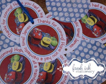 Chuggington Fire Personalized Tags