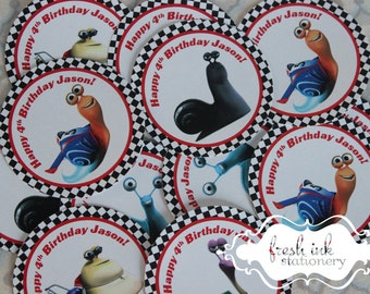 Turbo Snail Personalized Stickers
