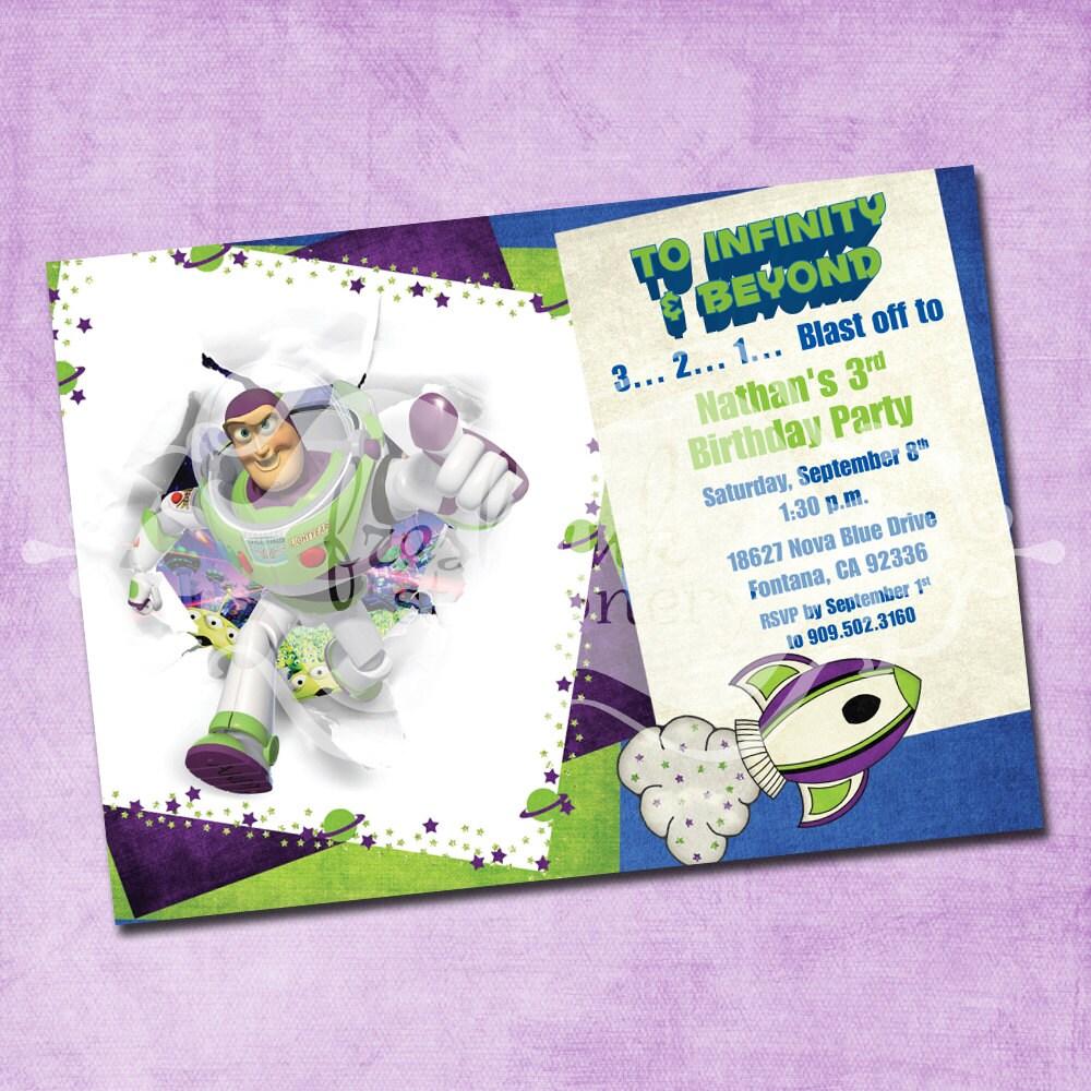 Buzz Lightyear Birthday Invitation