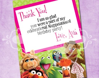 The Muppets Flat Thank You Card