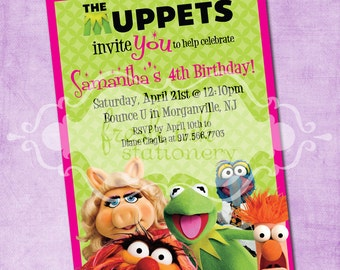 The Muppets Birthday Invitation