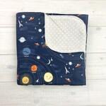 Baby Blanket -Space Baby Blanket - Planet Baby Blanket - Swaddle Blanket - Receiving Blanket - Baby Shower Gift - Gender Neutral