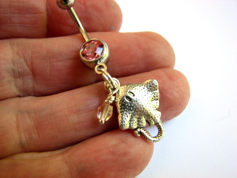 Manta Ray Navel Piercing Stingray Belly Rings Stingray Belly Button Rings Ocean Belly Button Jewelry