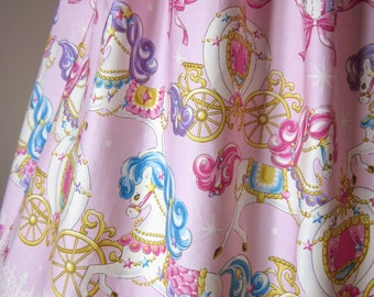Sweet Lolita Pink Carousel Pony Dress OP, Petite, Small