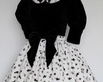 Black Alice in Wonderland OP Dress, Classic Lolita, Gothic Lolita