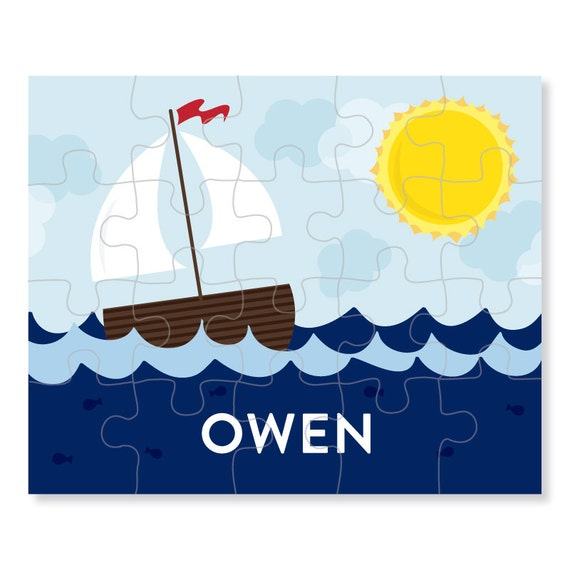 sailboat puzzle personalized puzzle for kids boat jigsaw puzzle