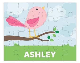 Cute Bird Puzzle - Personalized Puzzle for Kids - Jigsaw Puzzle - Children Puzzles - Personalized Name Puzzle - 8x10 puzzle, 20 pieces