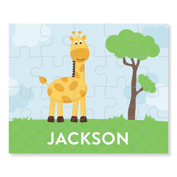giraffe puzzle personalized puzzle for kids jigsaw puzzle