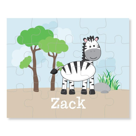 zebra puzzle personalized puzzle for kids jigsaw puzzle