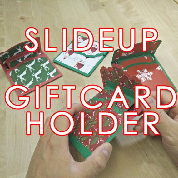 Pdf Svg Pop Up Slide Up Gift Card Holder Making Kit Etsy