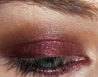 Harlot eyeshadow- deep burgundy wine w/ copper & burgundy glitter