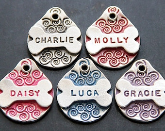 Custom Metal Bone Dog Name Tag, Dog Tags for Dogs Personalized