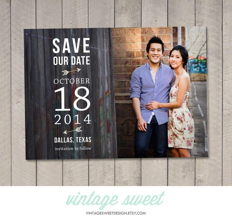 by Vintage Sweet Printable Save the Date Card  Magnet