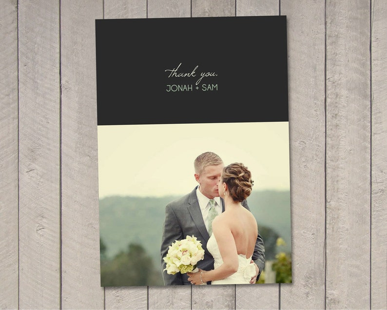 Printable by Vintage Sweet Modern Wedding Thank You Card