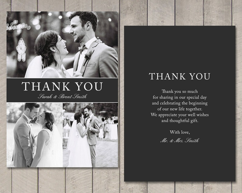 Printable Wedding Thank You Card by Vintage Sweet