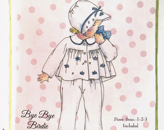 Coat, Bonnet & Suspender Pants Pattern / Fully Lined / Boys or Girls / Embroidery /Petite Poche Patterns / by Wendy Schoen