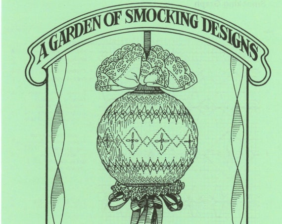 Smocked Christmas Kissing Ball / Instructions To Smock Christmas Ball / Christmas Ornament / Smocking Plate / Pattern / Vintage Smocked