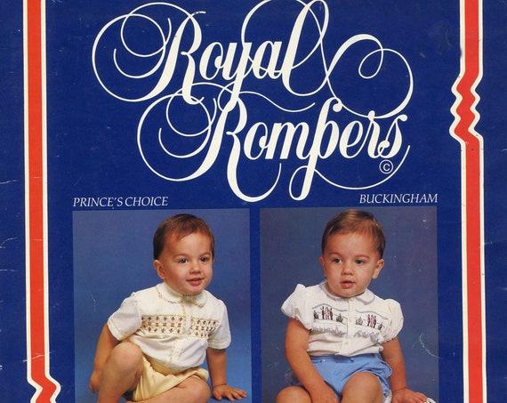 Smocking Pattern / Boy's Button On Suit Pattern / Romper / Read Pleaters / 2 Designs / Smocking Plates /  Vintage / Grace Knott
