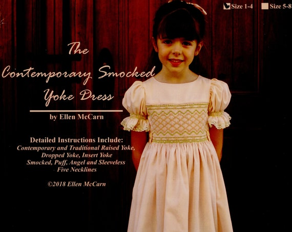 Contemporary Smocked Dress Pattern / Contemporary, Traditional, Dropped and Inset Yoke / Sleeve Options / Neck Variations / by Ellen McCarn