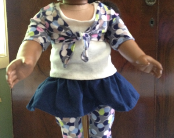 "Doll Clothes / 18"" Doll Clothes / Skirt / Scarf / Shirt / Tights / Supports Women for Women International"
