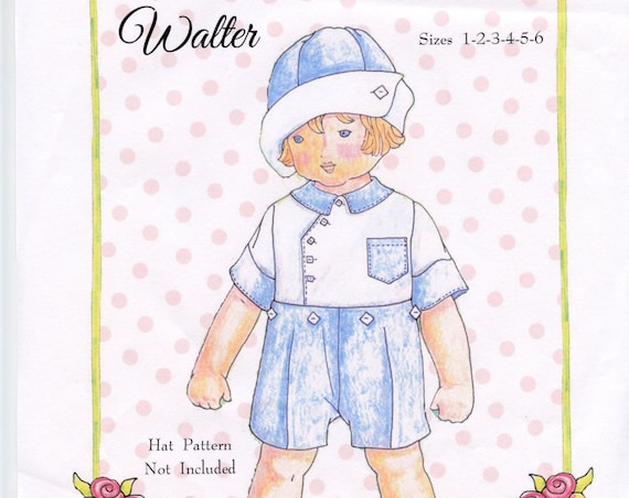 Little Boy's pattern / Walter Pattern / Button-on Suit / Two-piece Suit / Heirloom Boys  Button-on /Petite Poche Patterns / by Wendy Schoen