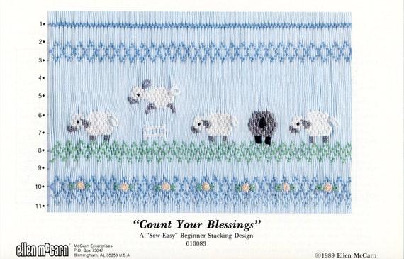 Lambs Smocking Plates / Smocking / Smocked Dress / Smocking Design / Easter / Smocked Romper / Lambs / Ellen McCarn Sew Easy Smocking Plate