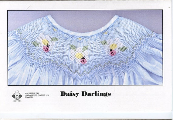Smocking Plates / Geometric Smocking / Daisy Darlings / Smocked Bishop Dress / Smocked Dress / Smocked Romper / CEC Smocking Plates