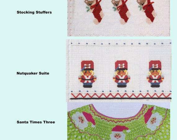 Christmas Smocking Plates / Smocking / Smocked Dress / Smocking Design / Christmas Dress / Smocked Romper /
