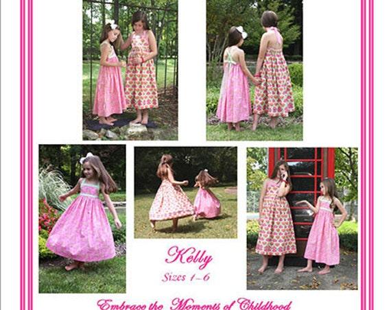 Sundress Pattern / Kelly Pattern / Easy / Twirly Dress / Cross Over Straps / Summer Dress / Halter Dress / Trisha's Treasures.