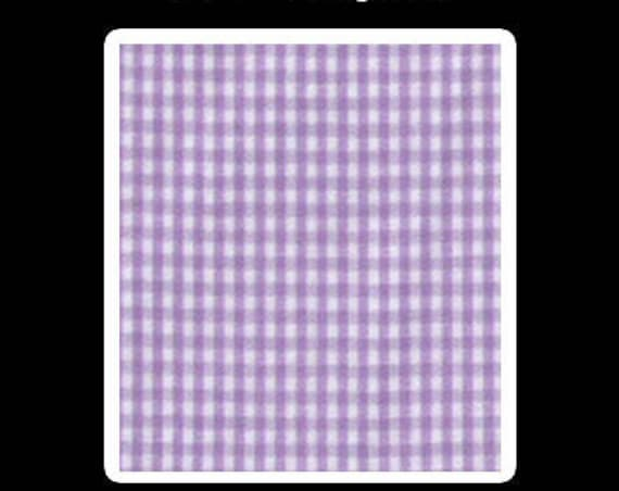 "Gingham/ Lilac Gingham / 100% Cotton / Small Gingham / 1/16 Gingham  / by Fabric Finders 60"" wide"