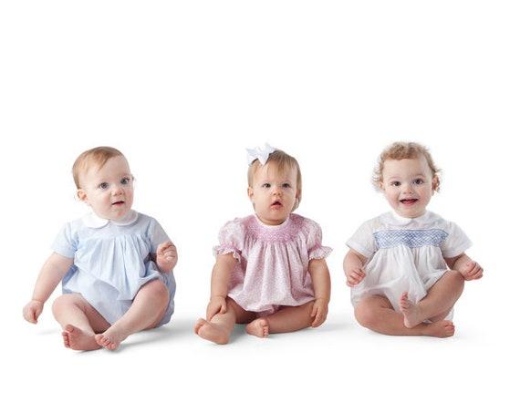 Childrens Corner / Jamie Pattern / Bubble / Sunsuit / Smocked Option  / Multiple Sleeve Options /  Snap Crotch /
