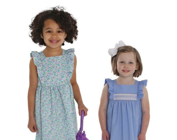 Childrens Corner Pattern / April / Dress Pattern / Smocked Dress Pattern  / Lined Bodice / Ruffles / Pinafore Styling / Optional Sash / 301