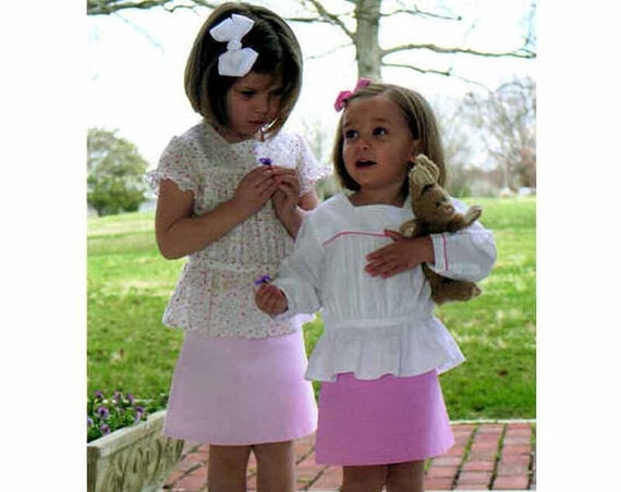 Childrens Corner / Ainsley Pattern / Girls Blouse Pattern /  A-line Skirt Pattern / Button Back / Children's Corner  265