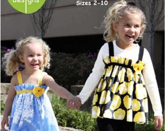 JoJo Pattern / Gathered Dress Pattern / Tunic Pattern / Ruched Leggings /  Ruffled Leggings / Matching Doll Dress / Olive Ann Designs