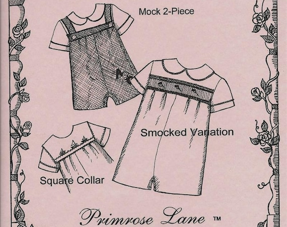 Boy's Romper  / Smocked Romper / 3 variations / Snap Crotch / 2 Collars / Cuffed Short Sleeves / Back Buttons / Reagan by Primrose Lane