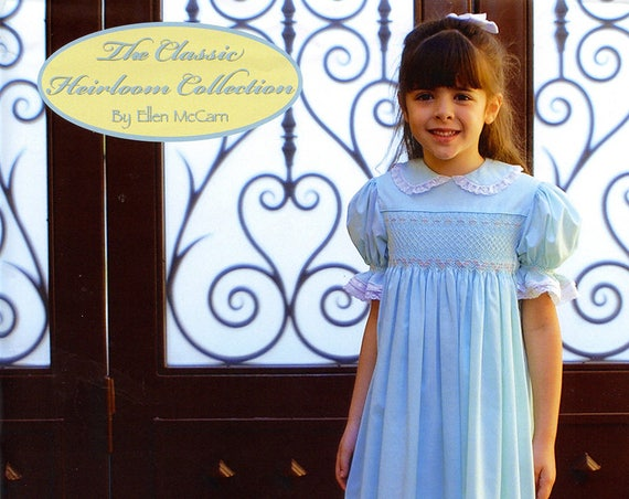 Smocked Dress Pattern / Smocked Square Yoke  Pattern / Smock Dress Pattern / Smocking Plates /   by Ellen McCarn