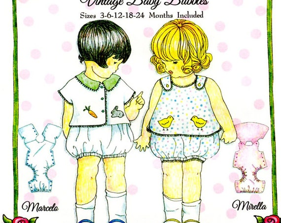 Bubbles Pattern / Vintage Baby Bubbles / Boys & Girls Patterns / Marcelo / Mirella / Embroidery/ Petite Poche / Wendy Schoen