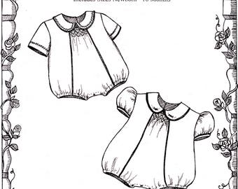 Bubble Pattern / Michaela pattern / Smocked Pattern / Boys / Girls / Snap Crotch / by Primrose Lane